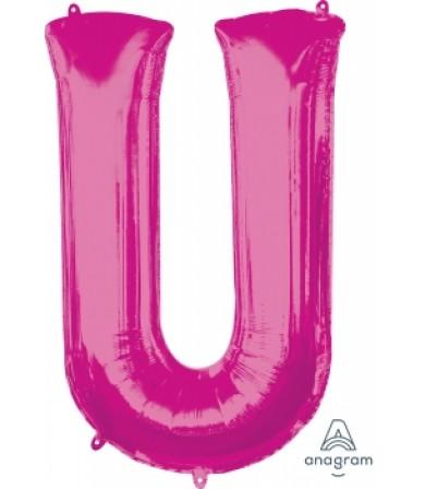 """35442 - Letter U - Pink (34"""")"""