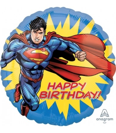 "35531 Superman Happy Birthday (18"")"