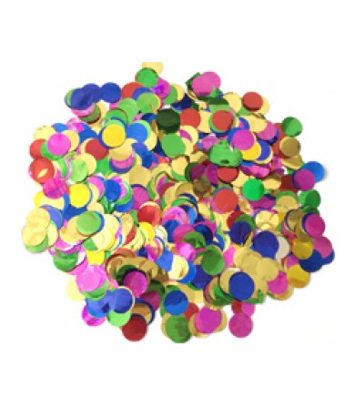 Confetti Paper - 15mm Round Foil - Assorted colours