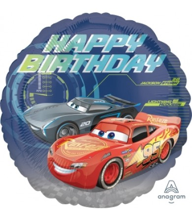 "35366 Cars 3 Happy Birthday (18"")"