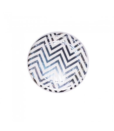 "Paper Plate - 7"" Round Wavy Stripes ( 8's )"