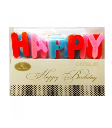 Candle - Happy Birthday Assorted ( 3 colours )