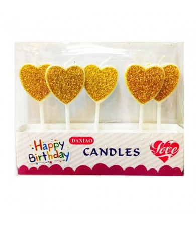 Candle - Glitter Heart
