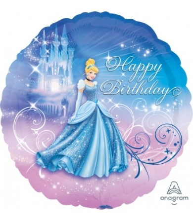 "24815 Cinderella Happy Birthday (18"")"