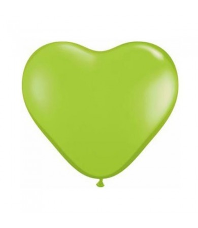 "Atex 12"" Heart Shaped Fashion Lime Green (010)"