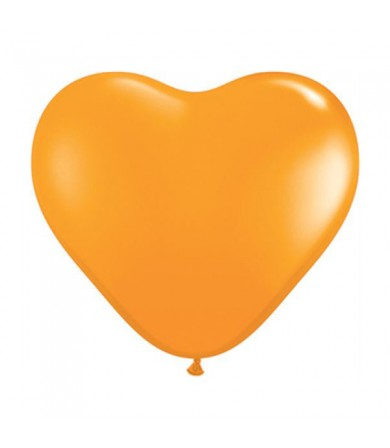 "Atex 12"" Heart Shaped Fashion Orange (005)"