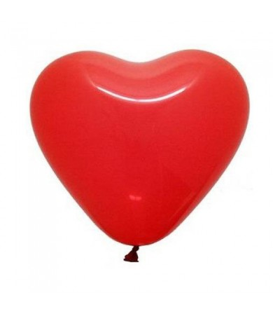 "Atex 12"" Heart Shaped Fashion Red (058)"