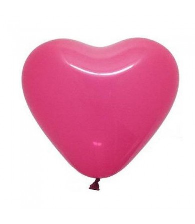 "Atex 12"" Heart Shaped Fashion Fuchsia (060)"