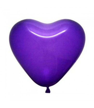 "Atex 12"" Heart Shaped Fashion Violet (049)"