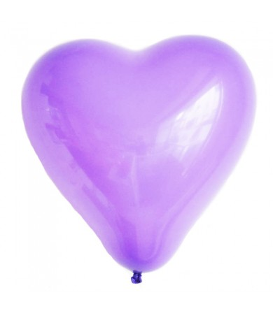 "Atex 12"" Heart Shaped Fashion Lavender (056)"