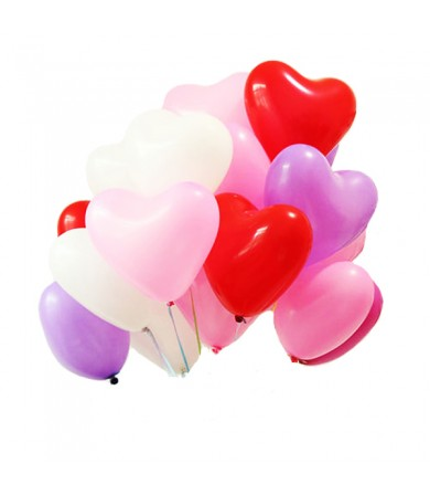 "Atex 12"" Heart Shaped Fashion Assorted"