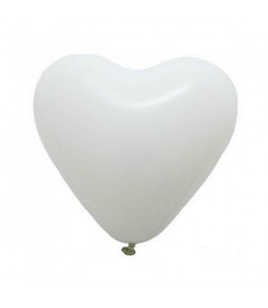 "Atex 12"" Heart Shaped Fashion White (004)"