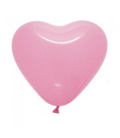 "Atex 12"" Heart Shaped Fashion Pink (052)"
