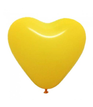 "Atex 12"" Heart Shaped Fashion Yellow (001)"