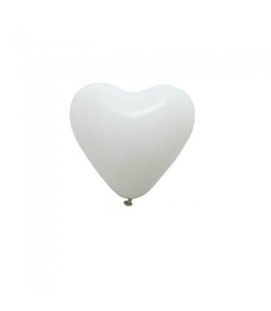 "Atex 5"" Heart Shaped Fashion White"
