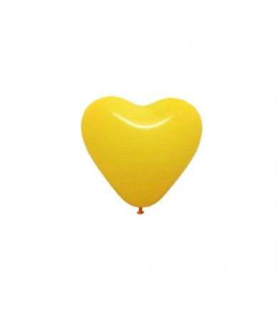 "Atex 5"" Heart Shaped Fashion Yellow"