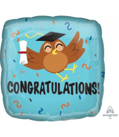 """37202 Congratulations Grad Owl (18"""")"""