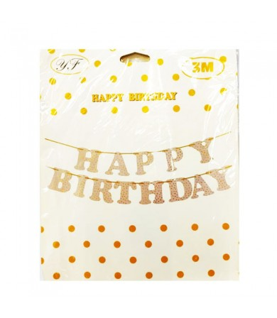 Letter Banner - Happy Birthday Dots