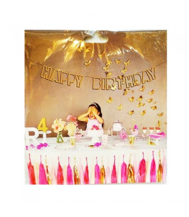 Letter Banner - Die-cut Happy Birthday
