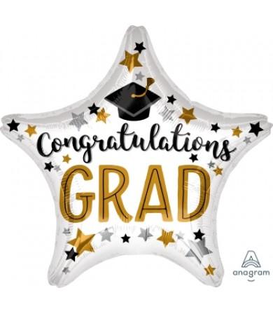 """37203 Congratulations Grad Star (18"""") (d/c)"""