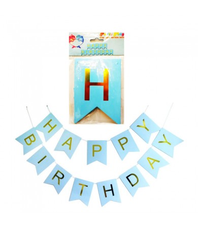 Letter Banner - Diagonal Happy Birthday Plain ( Big )