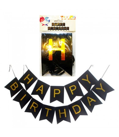 Letter Banner - Diagonal Happy Birthday Plain ( Small )