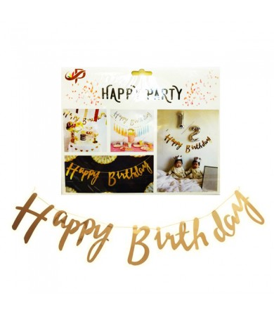 Letter Banner - Happy Birthday Cursive