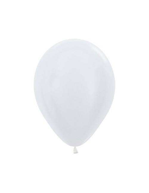 """Sempertex 12"""" SATIN PEARL WHITE 405"""