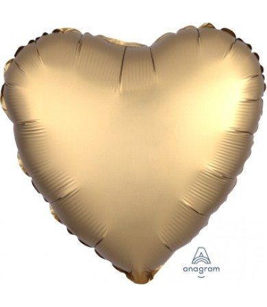 "36803 Satin Luxe™ Gold Sateen Heart (18"")"