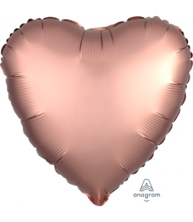 "36825 Satin Luxe™ Rose Copper Heart (18"")"