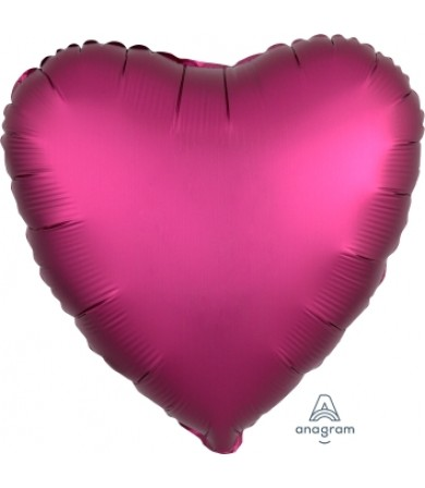 "36828 Satin Luxe™ Pomegranate Heart (18"")"