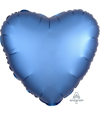 "36809 Satin Luxe™ Azure Heart (18"")"