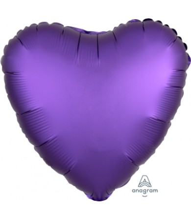"36818 Satin Luxe™ Purple Royale Heart (18"")"