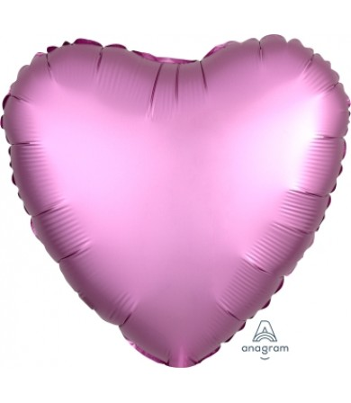 "36822 Satin Luxe™ Flamingo Heart (18"")"
