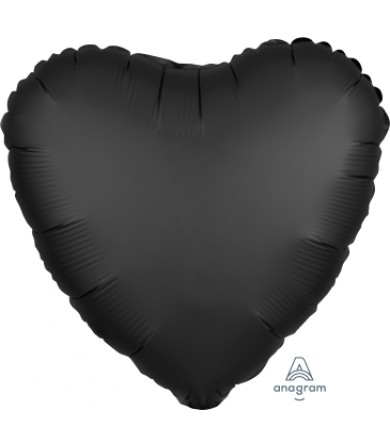 "38035 Satin Luxe™ Onyx Heart (18"")"