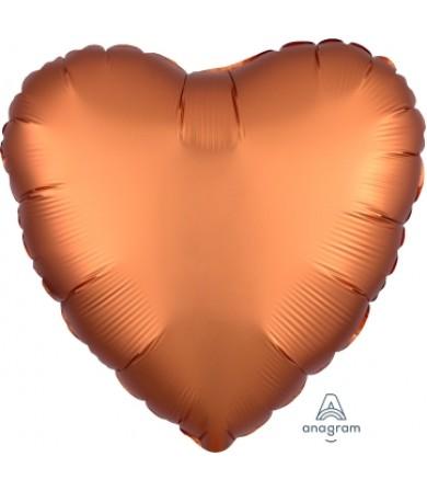 "38581 Satin Luxe™ Amber Heart (18"")"