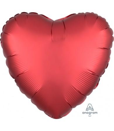 """38584 Satin Luxe™ Sangria Heart (18"""")"""