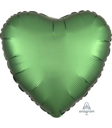 "38587 Satin Luxe™ Emerald Heart (18"")"