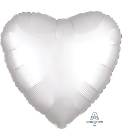 "38590 Satin Luxe™ White Satin Heart (18"")"