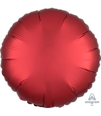 "38583 Satin Luxe™ Sangria Circle (18"")"