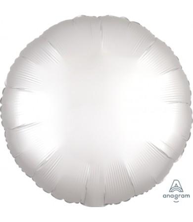 """38589 Satin Luxe™ White Satin Circle (18"""")"""