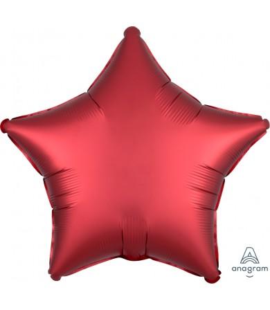 "38585 Satin Luxe™ Sangria Star (18"")"