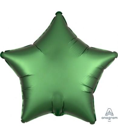 "38588 Satin Luxe™ Emerald Star (18"")"