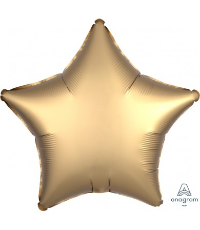 "36804 Satin Luxe™ Gold Sateen Star (18"")"