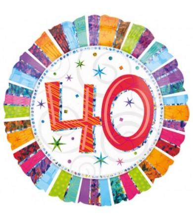 """16070 Radiant Birthday 40 (18"""")"""