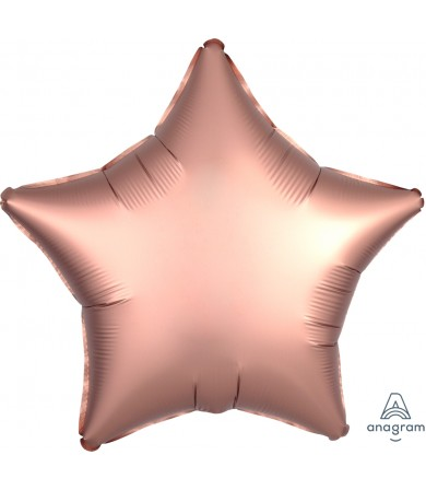 "36826 Satin Luxe™ Rose Copper Star (18"")"