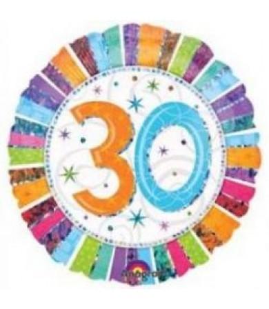 """16069 Radiant Birthday 30 (18"""")"""