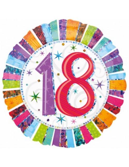 """16067 Radiant Birthday 18 (18"""")"""