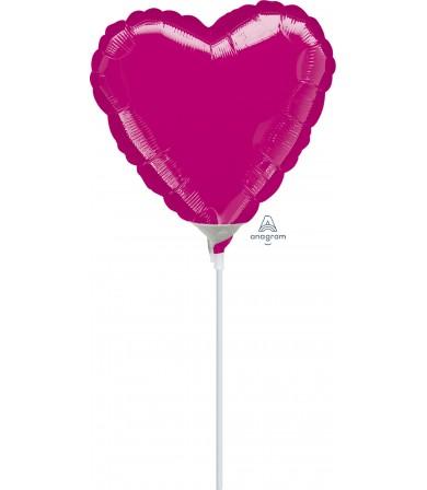 """16205 Fuchsia Heart  (4"""")"""