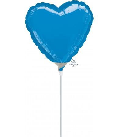 """16233 Blue Heart  (4"""")"""